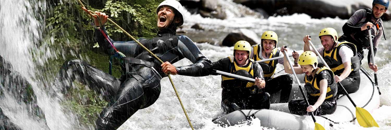 Paket Canyoning + Rafting<br>1 Tag