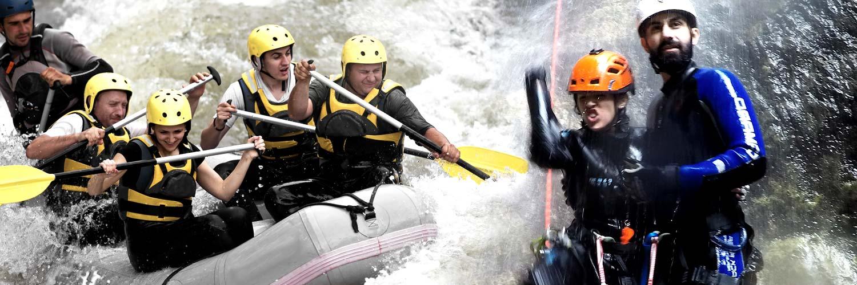 Paket Canyoning + Rafting<br>2 Tage